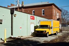 Yellow box truck