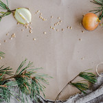 Background Of Pine Branches And Decors thumbnail