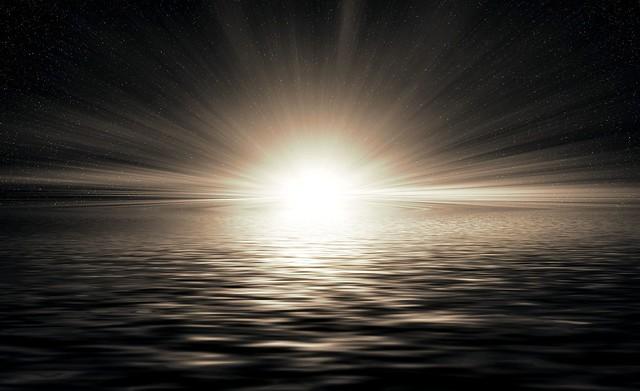 Обои горизонт, солнечный свет, сияние, рябь картинки на рабочий стол, фото скачать бесплатно