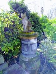 CHAT SUR UNE STELE (marsupilami92) Tags: frankreich france îledefrance 92 hautsdeseine asnièressurseine cimetière îlerobinson chat statue