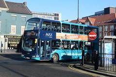 ANE 7410 @ Newcastle-upon-Tyne Eldon Square/Haymarket bus station (ianjpoole) Tags: arriva north east volvo b7tl wright eclipse gemini lg52ddj 7410 working max route 306 newcastleupontyne haymarket bus station grand parade tynemouth this is former london vlw102