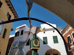La llama olimpica on the rocks (Micheo) Tags: spain menorca ciutadella carnaval decoracion decorations calle street olimpiadas