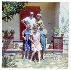 On Holiday in Marseille, France - 1967 (tonopah06) Tags: kodak luigibracciotti gemmabracciotti loretta marseille france instamatic holiday vacation relatives 1967 french family