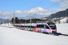 4024 088, SB 5009 ( Wörgl > Saalfelden ). Fieberbrunn (M. Kolenig) Tags: 4024 schnee berg wolken