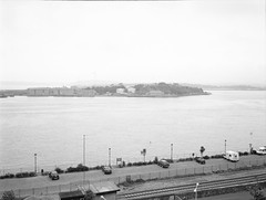 Cobh Harbour (nikolaijan) Tags: cobh fuji acros100 cork 120 gs645s 645 bw ireland