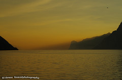 Sunset over Lago di Garda by Torbole (El Greco Travelphotography) Tags: italy travel autumn pentax pentaxk50 sunset lagodigarda lake landscape view nature water mountains color sky