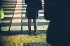 Waiting (jaxting) Tags: jaxting 東京 tokyo people candid street filmisnotdead istillshootfilm provia400x fujifilm noctilux leica