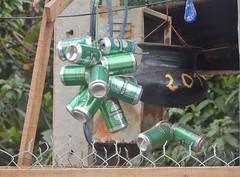 Heineken Fan (mikecogh) Tags: luangprabang collection beercans heineken dutch hanging pot 201