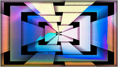 -Enter/Exit Here  (3D Line abstract) (SDG DiamondHead Photo Art) Tags: art abstractart lineart abstractlineart digitalart geometricart colorful colorfulart colorabstract contemporaryart interiors 3dart 3dabstractart 3d diamondheadphotoart