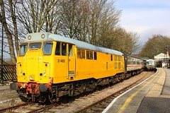 Loco hauled and DMU at Stanhope (Chris Baines) Tags: class 122 grcw 1000am service stanhope bishop auckland 31465