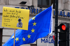 BREXIT Cigar (stevedexteruk) Tags: brexit protest march demonstration politics uk london 2019 placard slogan banner winston churchill wemustbuildsomekindofunitedstatesofeurope eu europeanunion european union peoplesvote referendum flag