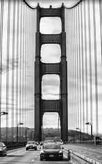 Modern Bridges, Modern Cars (Thomas Hawk) Tags: america bayarea bluestar california goldengatebridge model3 robertscoble sf sfbayarea sanfrancisco scobleizer tesla teslamodel3 usa unitedstates unitedstatesofamerica westcoast auto automobile bridge bw car electriccar us fav10 fav25 fav50 fav100