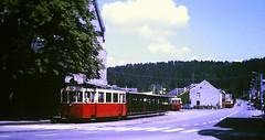 Slide 135-67 (Steve Guess) Tags: tram tramway streetcar strassenbahn strasenbahn трамвай nmvb sncv vicinal belgium belgique belgien belgië бельгия grottes han caves diesel ardennes hansurlesse
