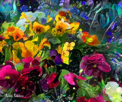 Jive Now (brillianthues) Tags: abstract flowers floral nature garden colorful collage photography photmanuplation photoshop