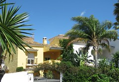 Spanish Home! ('cosmicgirl1960' NEW CANON CAMERA) Tags: marbella spain espana andalusia costadelsol puertobanus blue sky green trees villas travel holidays yabbadabbadoo houses homes