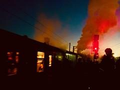 Coming Around Again (sjpowermac) Tags: comingaroundagain red steam smoke signal a4 60009 unionofsouthafrica watching piggyback sunset departure