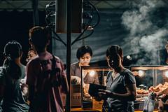 Street Food Vendor (Z H WONG) Tags: street food vendor singapore pasar malam people