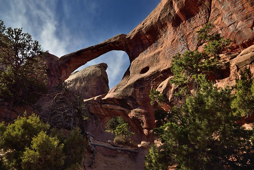Blue Skies Above the Double O Arch (Arches National Park)
