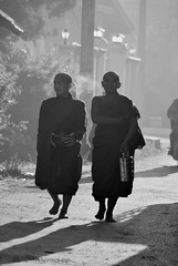 Kalaw (59) (Neal J.Wilson) Tags: bnw blackandwhite people burma myanmar asia asian silhouette travel travelling misty morning dawn buddhism religion