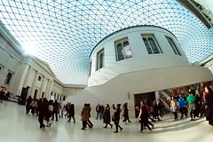 The British Museum in FishEye (Simon Downham) Tags: british museum greatcourt roof glass fish eye fisheye