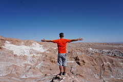 2,820 meters, the Valley of the Moon (Valle de la Luna), San Pedro de Atacama, the Atacama Desert, Chile. (ER's Eyes) Tags: valledelaluna valedalua thevalleyofthemoon highlands altiplano altiplanoschilenos tierrasaltaschilenas chileanhighlands volcano vulcão montanha mountain neve snow chile sanpedrodeatacama spa desertodoatacama atacama atacamadesert desiertodeatacama desert deserto desierto nortrek nortrekatacama carlosmellasepulveda emmanuel argentiniantravelguide tour passeio sharedtour passeiocompartilhado hostalsumajjallpa albergue hostal sernatur southamerica americadosul nature natureza landscape paisagem unesco northofchile theandes cordilheiradosandes salardeatacama alabaltitilocejar thesaladoriver emmanuelourfineargentiniantravelguide comunidadatacameñadesolor cordilleradesal saltmountainrange thelosflamencosnationalreserve formaçõesrochosas rockformations lunarsurface dunas dunes