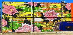 Spring Bloom by Kenji Stoll (wiredforlego) Tags: graffiti mural streetart urbanart aerosolart publicart seattle washington sea sodotracks kenjistoll