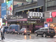 Beetlejuice The Musical Winter Garden Theater Marquee 4397 (Brechtbug) Tags: beetlejuice the musical winter garden theater marquee display 2019 nyc broadway 7th ave 51st street ben cooper halco collegeville monster creature graveyard ghoul dead guy moss hair green stripes fashion mutants villains tim burton film movie 1988 80s 1980s figure hell purgatory beatle beetle juice ghost with most michael keaton possession exorcist betelgeuse exorcism haunt