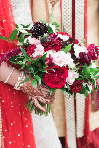 "Indian Wedding Tess Garden Rose Bouquet • <a style=""font-size:0.8em;"" href=""http://www.flickr.com/photos/81396050@N06/32552193207/"" target=""_blank"">View on Flickr</a>"
