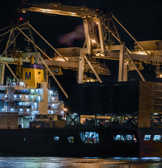 matson vehicle freight carrier (pbo31) Tags: eastbay alamedacounty bayarea california nikon d810 color night dark black april 2019 boury pbo31 oakland port ship marine harbor container sail alameda island panorama large stitched panoramic m