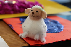 Project 365 #95: 050419 Watch Me Sparkle (comedy_nose) Tags: project365 lamb craft cards fluffy