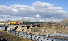 VIA 37 (Michael Berry Railfan) Tags: via37 via911 viarail train passengertrain ge generalelectric genesisseries p42dc renaissancecars sthenri montreal montrealsub quebec lachinecanal