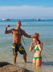 XOKA4350sL (Phuketian.S) Tags: portrait beach girl woman beauty muscle gym sea rock water people couple fun yacht catamaran boat ocean naiharn phuket thailand пляж девушка мужчина культурист море океан пхукет phuketian phuketgirl девочка женщина красивая babe