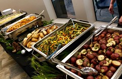 (cafe_services_inc) Tags: cafeservicesinc arbella holidayparty holiday2018 buffet potatoes carrots greenbeans greens bread rolls cheflarry