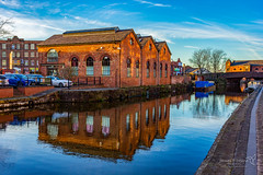 Wigan 09 Jan 2019 00094.jpg (JamesPDeans.co.uk) Tags: goldenhour forthemanwhohaseverything england ships wigan gb printsforsale windows industry freshwaterboats boats landscape europe canals brickbuilt unitedkingdom canal reflection transporttransportinfrastructure britain water lancashire wwwjamespdeanscouk longboats architecture greatbritain landscapeforwalls jamespdeansphotography uk digitaldownloadsforlicence