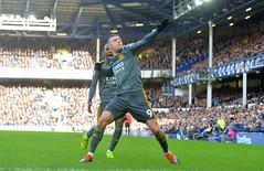 Everton FC v Leicester City (Alex Hannam) Tags: sport soccer clubsoccer liverpool england unitedkingdom gbr leicester leicestercityfootballclub leicestercity lcfc everton jamievardy