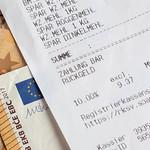 Shopping receipt thumbnail