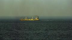 ship and pilot boat (bluebird87) Tags: ship cape henlopen delaware film kodak ektar nikon f100 dxo c41 lightroom