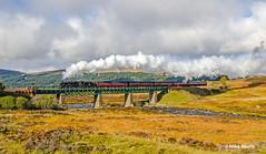 45407 - Rannoch - Scottish Bash 2014  (3) (Mike Heath Photo) Tags: west highlad line highlands rannoch moor scottish bash lms london midland stanier class 5 460 5407 45407