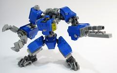 Benny LR Mech Suit 05 (chubbybots) Tags: lego mech mechsuit benny blue robot