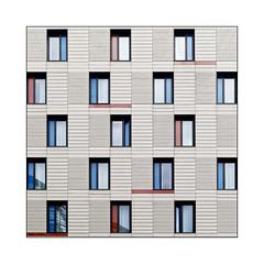 Seventeen Windows (Jean-Louis DUMAS) Tags: abstract abstrait abstraction architecture architectural architecturale nb photos structure lignes lines reflection london londres fenêtre windows