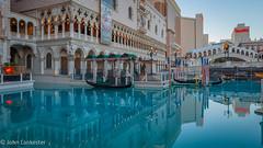 Reflecting on the Venetian Hotel gondolas Las Vegas (Jhopne) Tags: usa hotel lasvegas jan19 reflection canonef2470mmf28lusm city nevada unitedstates canoneos5dmarkii venetianhotel gondola