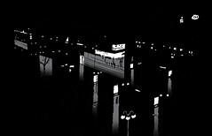 Paradeplatz, Mannheim, January 2019 (stevefaradaysketches) Tags: mannheim urbansketch urbansketchers usk nightscene streetscene view inkdrawing illustration fineliner