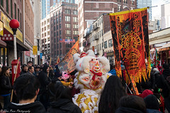 The Chinese's lovable, warm and fuzzy dragon. (kuntheaprum) Tags: chinatownboston chinesenewyearcelebration yearofthepig sony a7riii tamron 2470mm f28 festival parade dragon firework