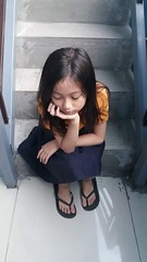 poor little girl :) (ghostgirl_Annver) Tags: asia asian girl annver teen preteen child kid small tiny poor daughter sister family portrait stairs school uniform