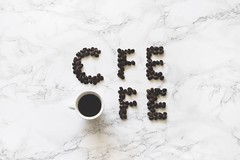 Art black coffee coffee - Credit to https://homegets.com/ (davidstewartgets) Tags: art black coffee beans concept cup flatlay font letters marble surface text top view
