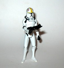 clone pilot oddball no. 11 star wars the clone wars basic action figures blue white card 2008 hasbro 2d (tjparkside) Tags: clone pilot oddball cw14 cw 14 star wars blue black card packaging galactic battle game display base stand collector basic action figure figures hasbro 2010 helmet blaster blasters missile projectile launcher cannon rocket launching v19 torrent starfighter arc170 fighters fighter republic