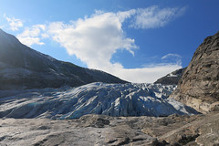 Norway - Nigardsbreen (Michael.Kemper) Tags: canon eos 30d 30 d 1755 17 55 f28 f 28 is usm walk walking hike hiking wanderung wandern randonnée randonnee voyage travel travelling reise vacation urlaub norge norwegen norway nigardsbreen nigard glacier gletscher jostedalsbreen arm zunge gletscherzunge gletscherarm cloud clouds wolke wolken ice eis efs