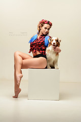 Dancer and dog (Elena Grigorieva) Tags: yourpet dogsphotography dog studioportrait beautifulcapture beautifulday grigorievaphotography australianshepherds aussieshepherds aussie