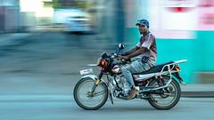 Panning a Moto Taxi, Rue L, Cap Haitien, Haiti (MikeM_1201) Tags: mototaxi moto motorcycle panning caphaitien haiti morning street d500