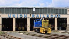 Hall Shops (GLC 392) Tags: hall shops roundhouse round house urr union railroad railway train emd mp15dc monroeville pa pennsylvania transtar 26 20 33 switcher